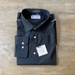Men's black long sleeve button up